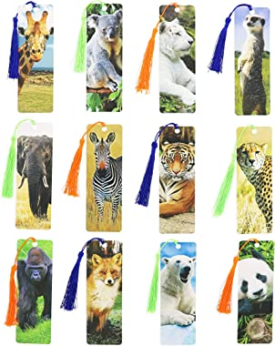 Tassel Bookmark, Wildlife Animal Designs (72 Pack)