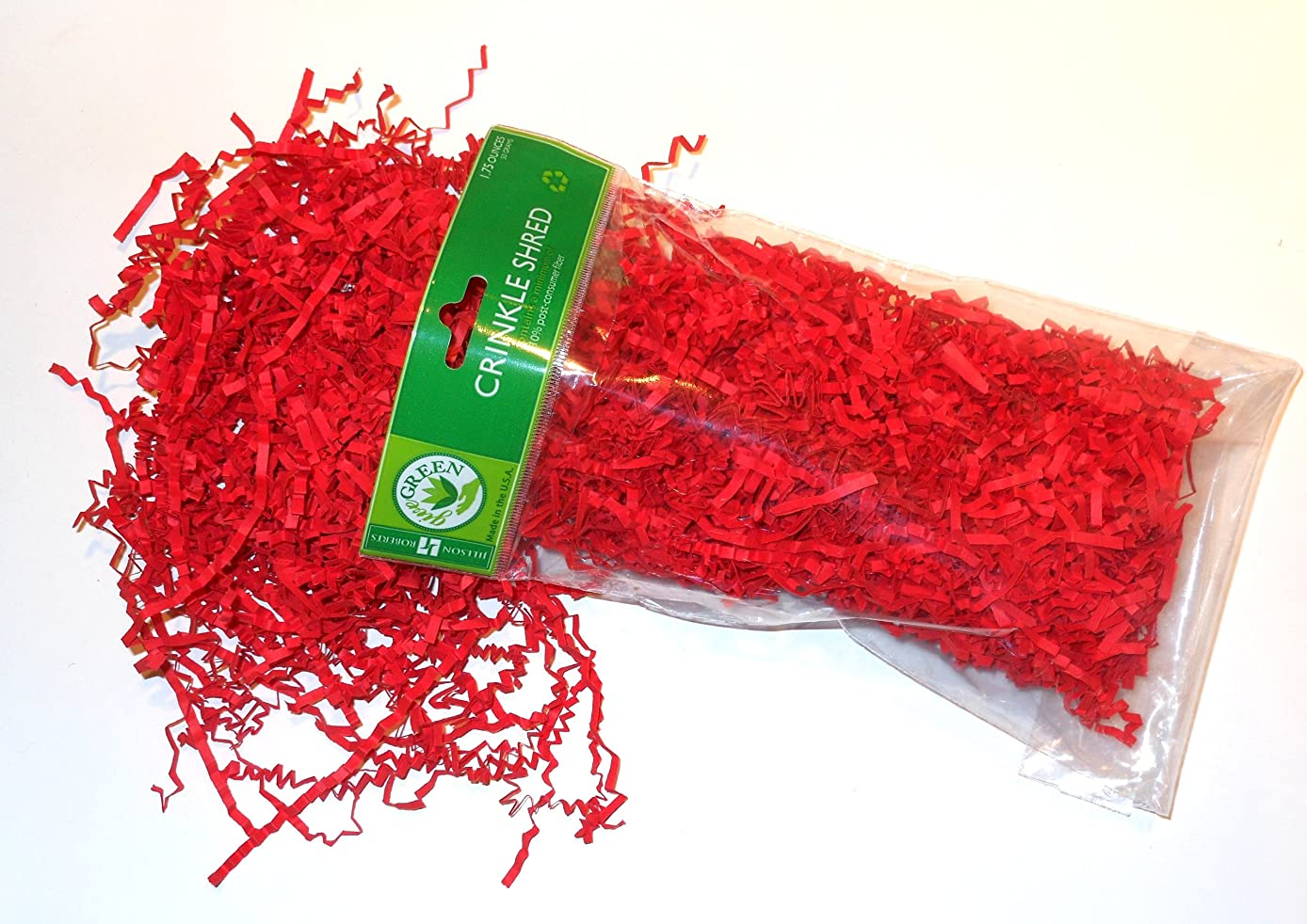 Jillson Roberts Crinkle Cut Paper Shred Available in 14 Colors, Red, 6 Package-Count (CS09)
