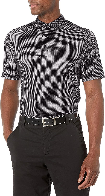 Cutter & Buck Men's Big and Tall Drytec UPF 50 Lightweight Pike Mini Pennant Print Polo Shirt
