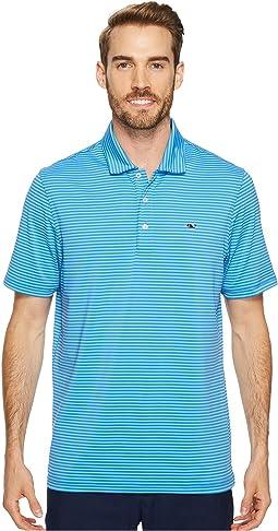 Vineyard Vines Golf - Performance Kennedy Stripe Polo