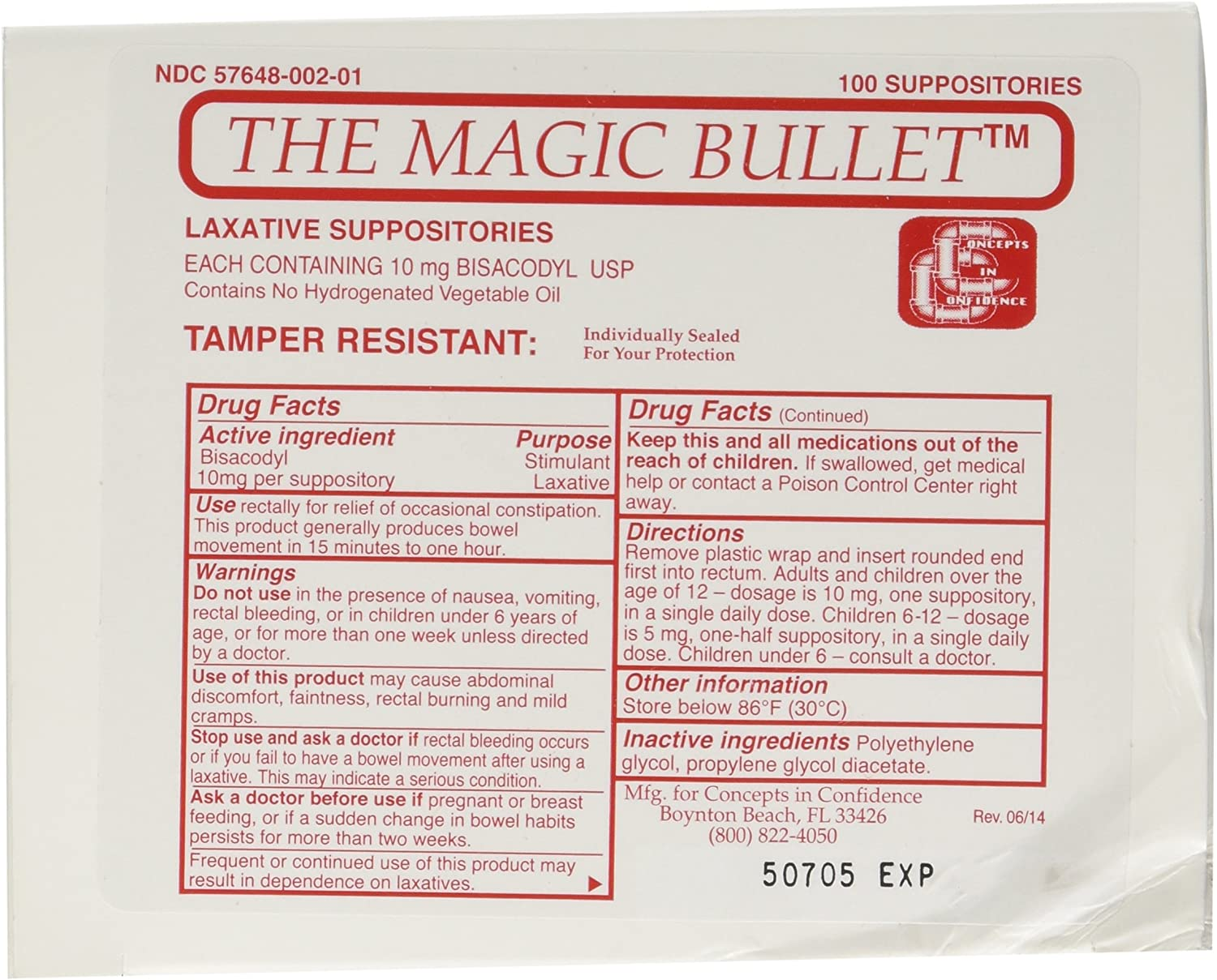 Magic 5 ☆ very Choice popular Bullet Suppository Part No. CCMB100 Concepts Confidence in