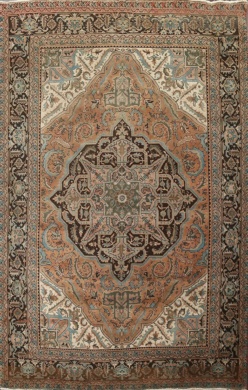 Floral Heriz Max 51% OFF 2021 autumn and winter new Oriental Rug Hand-Knotted Carpet 8 Room Living Wool