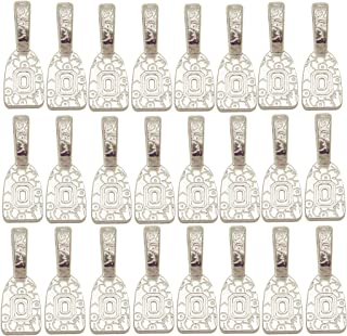 Find-Its - Findings For Fused 24-Piece Floral Print Bails, Silver Plated