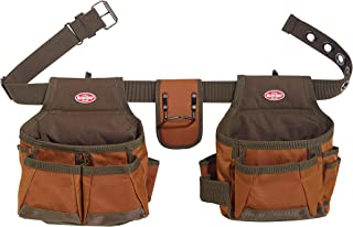Bucket Boss 2 Bag Tool Belt in Brown, 50200