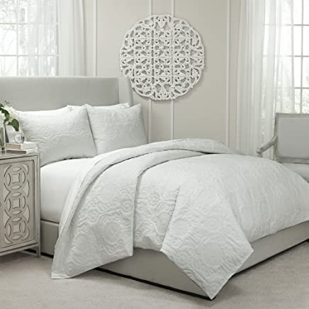 featured product Vue 13811BEDDQUEIVY Barcelona Quilted Coverlet & Duvet Ensemble,  Ivory,  Queen