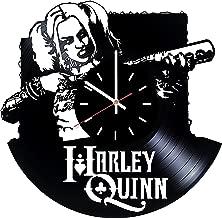 Harley Quinn Suicide Squad Vinyl Record Wall Clock - Living room or Bedroom wall decor - Gift ideas for friends, boys, men, women, girls - Movie Unique Art Design
