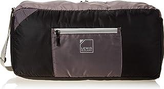 """Lewis N. Clark Lewis N. Clark 18"""" Packable Duffel With Neoprene Zip Pouch, Black/Gray (black) - 1760BGR"""