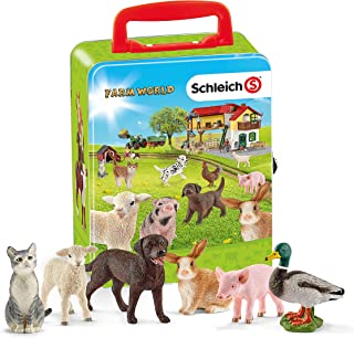 Schleich Farm World Collector Case with Animals, Playset Gift for Kids Ages 3+