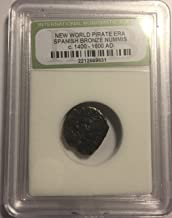 1400 ES - 1600 AD Spanish Bronze coin Pirate ERA Maravedis AG-G
