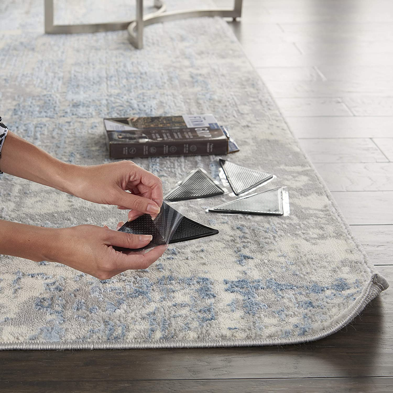 Attention brand Nourison Gripper Firm Non-Slip Black SET8 Pad Genuine Rug