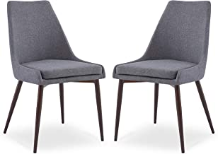 POLY & BARK Ethen Dining Chair, Set of 2, Grey