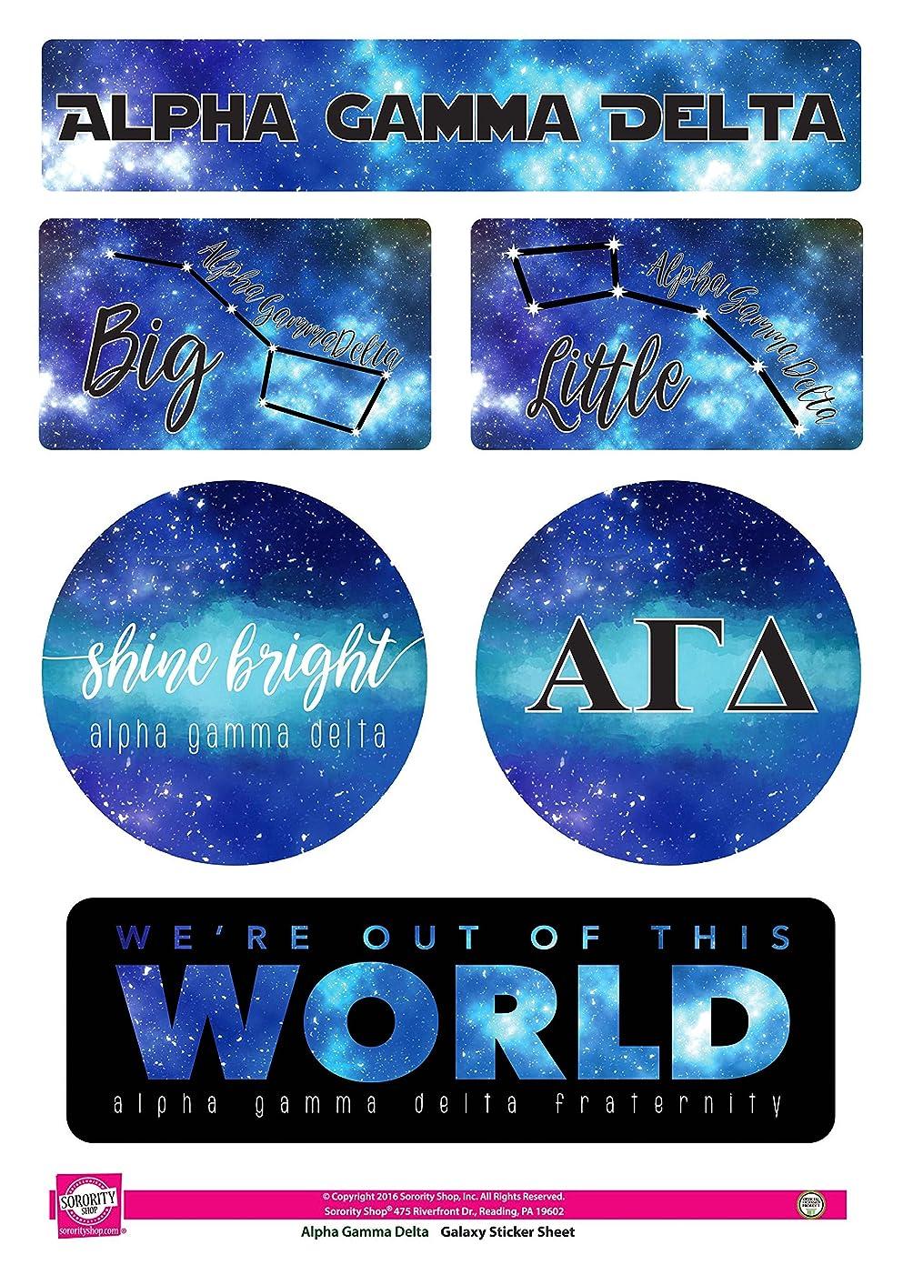 Alpha Gamma Delta - Sticker Sheet - Galaxy Theme
