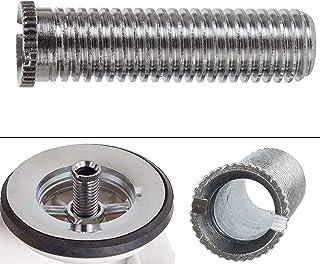 Hohlschraube für Siebkorbventile, M12 x 1,5 x 45 Schraube, Länge 45 mm, Gewinde Durchmesser 12 mm, Kopf Durchmesser 13 mm, Innen Durchmesser 8 mm, universell passend für Ventilabläufe mit 1.5 und 3.5 Zoll, Ablaufventil Spüle