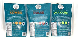 Sponsored Ad - Ocean`s Balance Organic Whole Leaf Combo Pack - 2 Ounce Pouches - (Dulse, Wakame, Kombu) - Maine Coast Seaw...