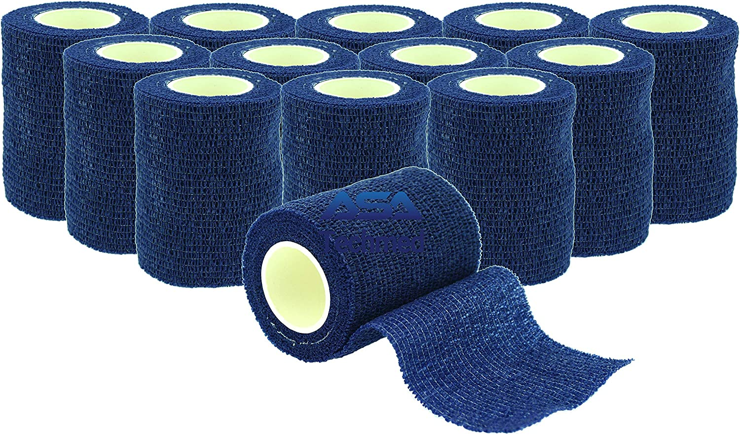 """ASA TECHMED - Max 48% OFF 12 Pack 3"""" Yards Self-Adherent 5 Sale price x Cohesive"""