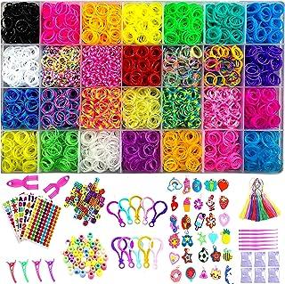 YITOHOP 12000+ Colorful Loom Bands Set , Premium Rubber Bands for Bracelet Making Kit DIY Band Bracelet Mega Refill Kit Gi...