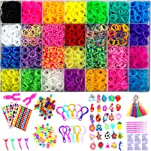 YITOHOP 12000+ Rainbow Colorful Loom Bands, Premium Rubber Bands for Bracelet Making Kit DIY Band Bracelet Mega Refill Kit...
