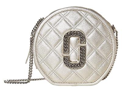 Marc Jacobs Metallic Round Crossbody (Platinum) Handbags