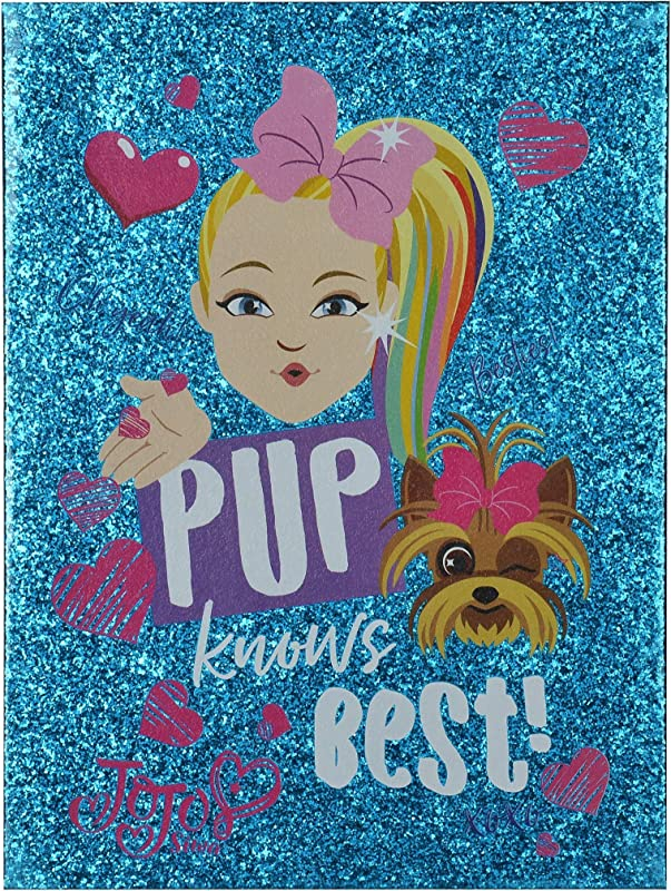 Edge Home JoJo Siwa Pup Knows Best Double Layer Glitter Canvas Standard