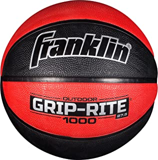 Franklin Sports Grip-Rite 1000 Youth Basketball — Durable Basketball  — Junior Size Basketball for School, Camp, Home Basketball Practice — Indoor and Outdoor Basketball — Multiple Colors and Sizes