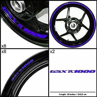 Stickman Vinyls Motorcycle Decal Reflective Blue Graphic Kit For Suzuki GSXR 1000
