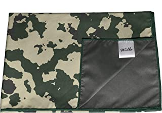 Wills Co Camo Microfiber Towel Cleaning Cloth – Quick Drying, Lint Free Cloth, Durable Print Design – Perfect for Camping, Travel, Backpacking, Hiking, Hair Towel, Beach Towel (39