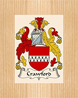 Carpe Diem Designs Crawford Coat of Arms/Crawford Family Crest 8X10 Photo Plaque, Personalized Gift, Wedding Gift