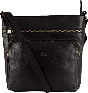 Genuine Leather Crossbody Purse and Handbags - Crossover Bag Over the Shoulder Women