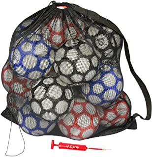 GoSports Premium Mesh Ball Bag with Sport Ball Pump, Great for All Sports (Soccer, Football, Basketball, Volleyball and Mo...
