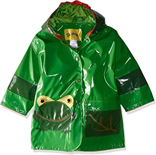 Kidorable Green Frog PU All-Weather Raincoat for Boys With Fun Frog Mouth Pocket