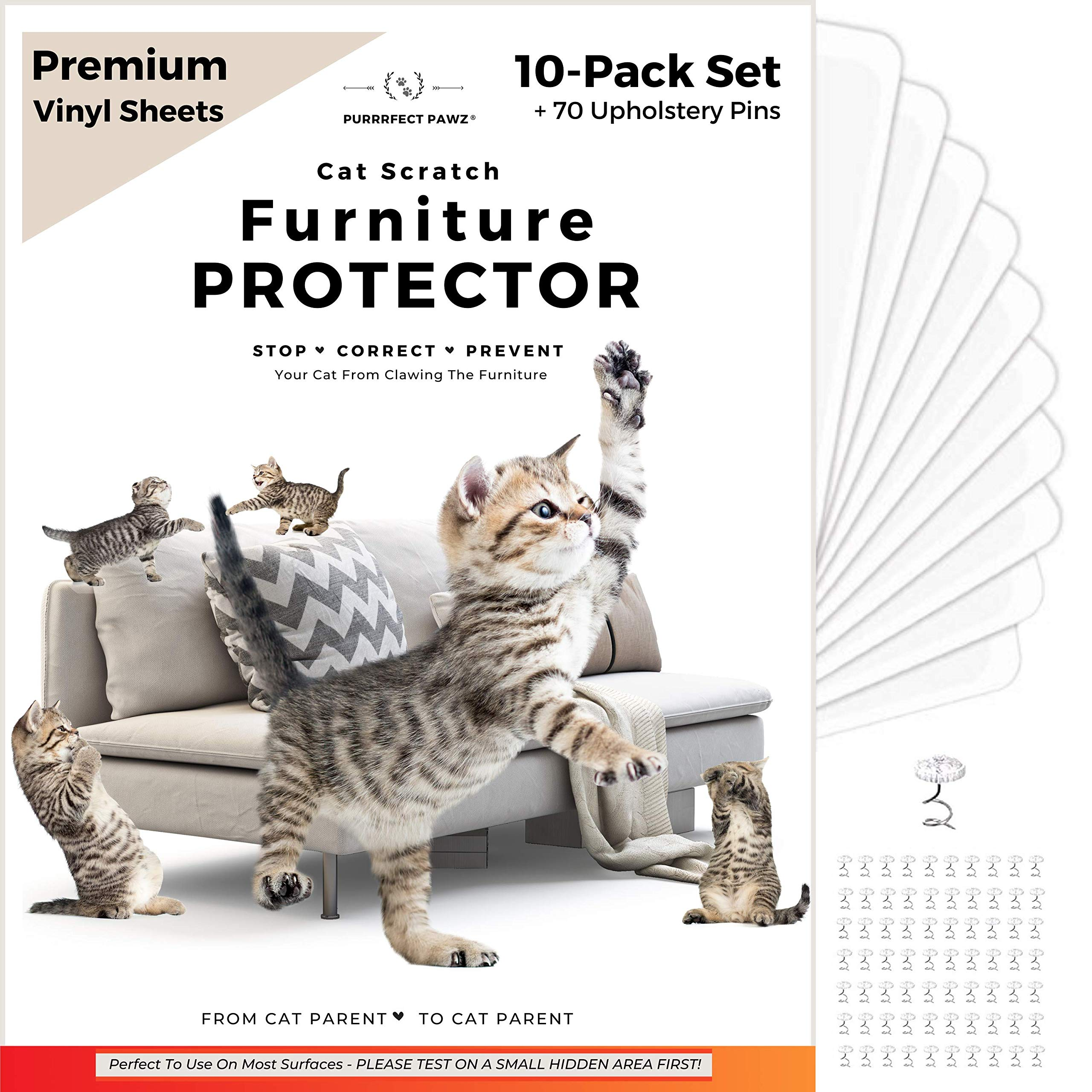 PURRRFECT PAWZ, Cat Scratch Furniture Protector, Couch Protectors from Cats Scratching, Anti Scratch Furniture Protector, ...