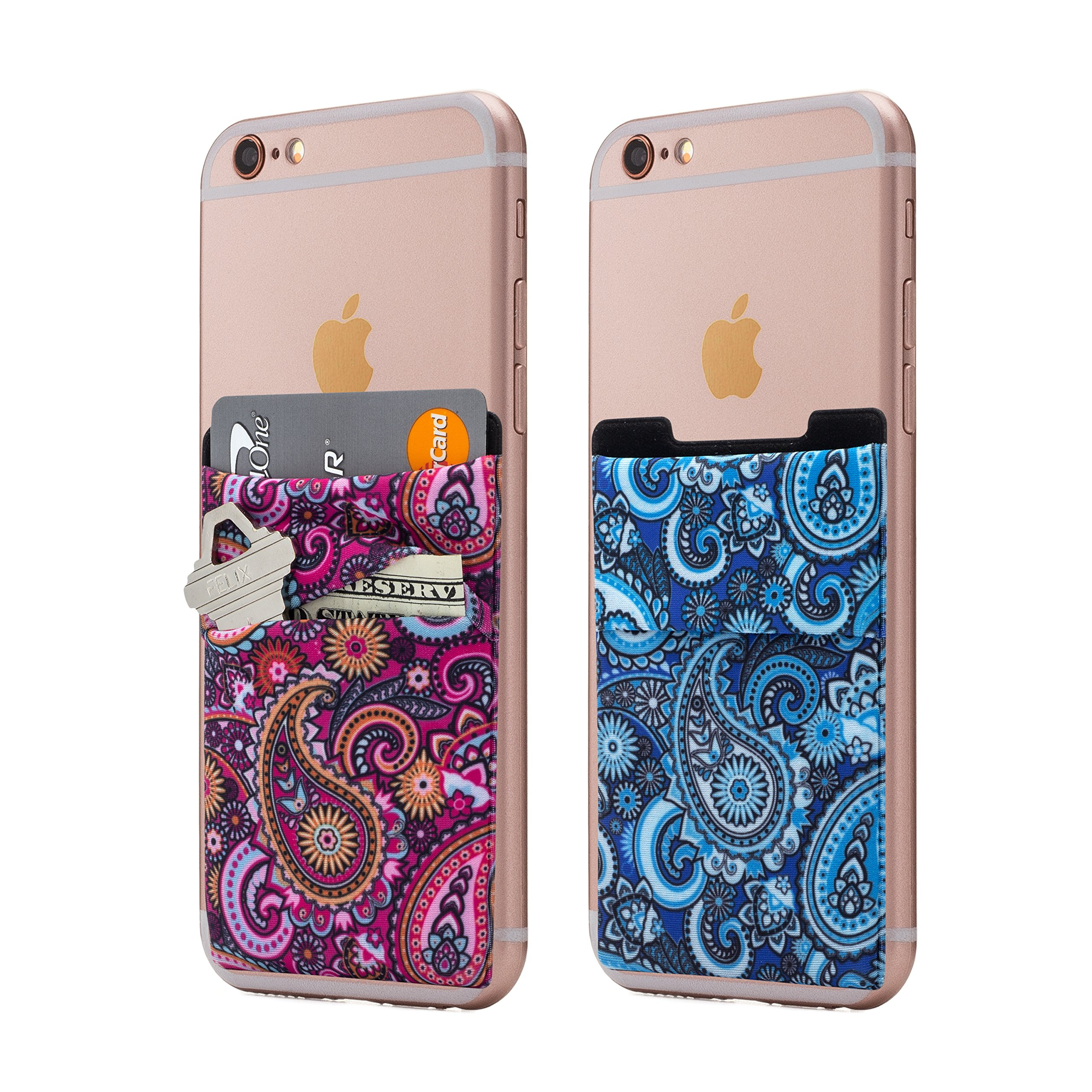 Stretchy Wallet Android smartphones Paisley