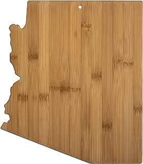Totally Bamboo 20-7961AZ Arizona State Shaped Bamboo Serving & Cutting Board,