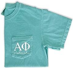 Alpha Phi Script Letters Pocket T-Shirt