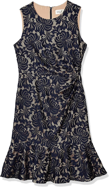 Eliza J Women's Sleeveless Dress Peplum Hem
