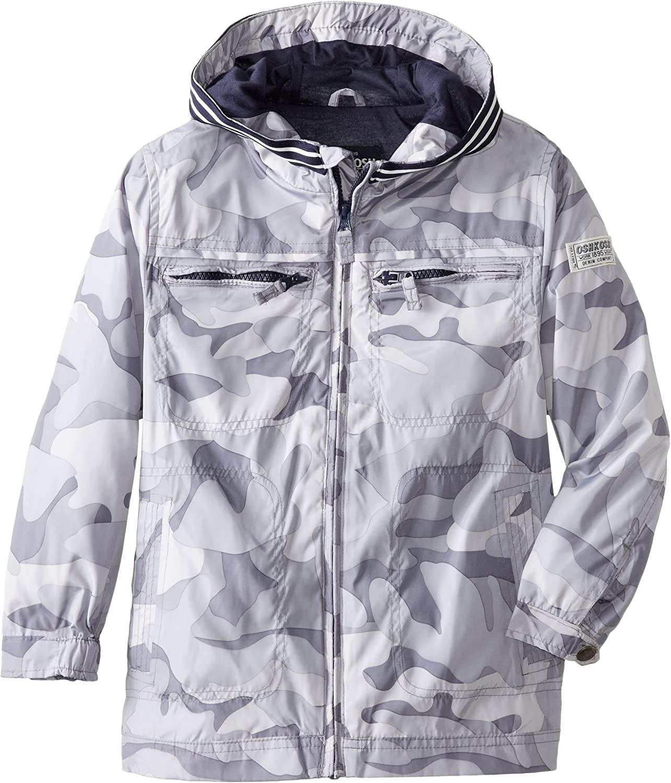 Osh Kosh Little Boys' Rugby-Stripe Hooded Jacket