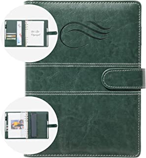 $22 » Sponsored Ad - QualityOrganizers A5 Portfolio & Refillable 6 Ring Binder Notebook, with PU Leather Cover for Men and Women...