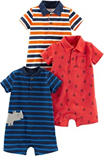 Simple Joys Carter's Baby Boys' 3-Pack Rompers