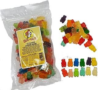 Buc-ees 12 Variety Fruit Flavor Gummi Bears Sweet/Tart Chewy Candy 12 oz (1)