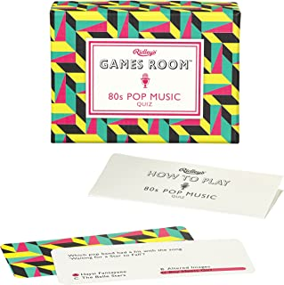 Ridley's 80S Pop Music Quiz Card Game for Kids and Adults