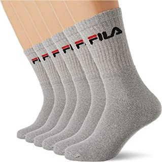 Fila F9505/6 Unisex Calcetines de Tennis en Felpa 6-Pares, Talla 43/46, Gris
