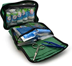 90 Piece Premium Kit Includes Eyewash, 2 x Cold (Ice) Packs and Emergency Blanket for Home, Office, Car, Caravan, Workplace, Travel - Astroplast First aid Kit Bag