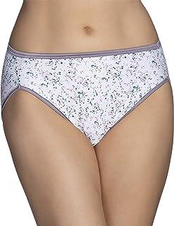 Vanity Fair Women's Illumination Hi Cut Panty 13108, Spring Shower Print, Medium (6)