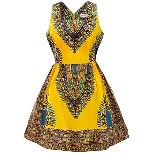 ffe002ae91da69 Shenbolen Woman African Print Dress Dashiki Traditional Dress Party Dresses