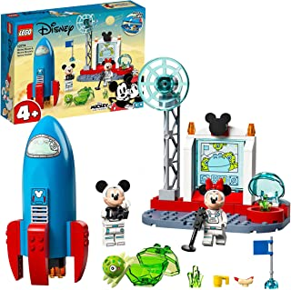 LEGO 10774 Disney Mickey Mouse and Friends Minnie Mouse's Space Rocket Buildable Toy for Kids 4 + Years Old