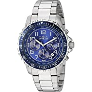 Invicta Men's 6621 II Collection Chronograph Stainless Steel Silver/Blue Dial Watch