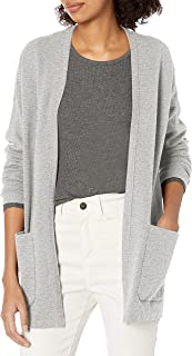 Marchio Amazon - Daily Ritual - Ultra-soft Milano Stitch Patch Pocket Long Cardigan Sweater, cardigan-sweaters Donna