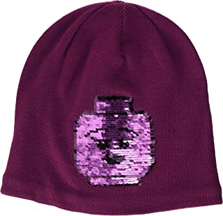 LEGO Wear Girls Snow Beanie With Character On Front,  Bordeaux,  4-7 Yr