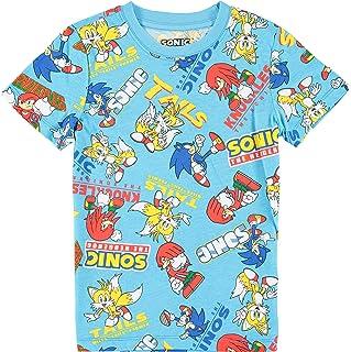 Sponsored Ad - FREEZE Sonic The Hedgehog Boys Short Sleeve T-Shirt - All Over Print Design Sonic Tee