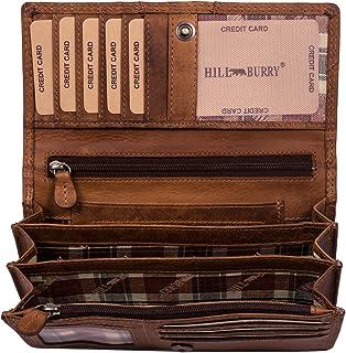 Hill Burry Portafoglio Donna | Portamonete in vera Pelle di Classe | Portafoglio signore in pelle di qualità con un aspett...